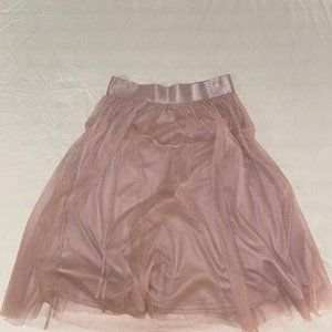Mesh skirt with lining